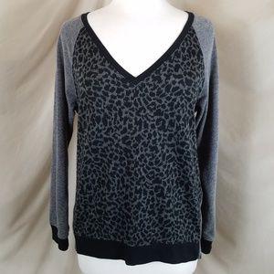 Sanctuary Leopard Print V-Neck Sweater